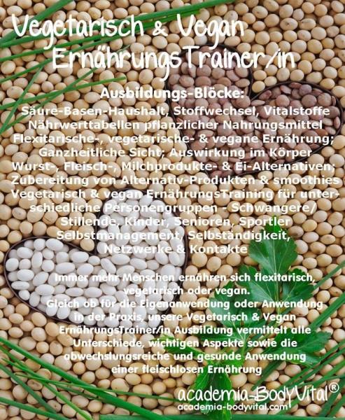 Vegetarisch & Vegan ErnährungsTrainer/in Ausbildung